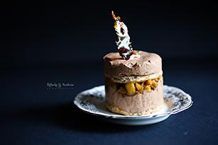 hazelnut dacquoise coffee chocolate tonka bean mousse