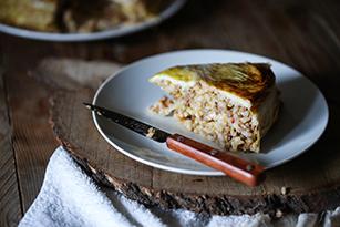 stuffed cabbage rice timbale